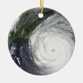 Hurricane Katrina Satellite Image, August 2005 Ceramic Ornament