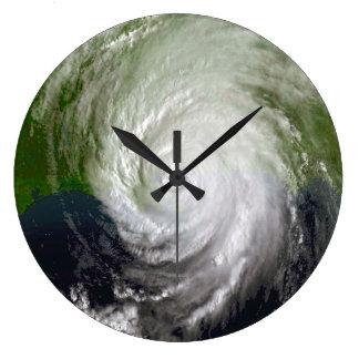 Hurricane Katrina Satellite Image, August 2005 Large Clock