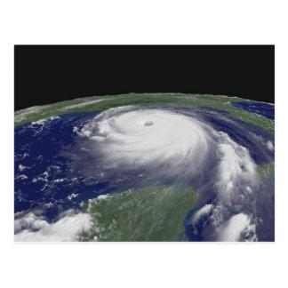 Hurricane Katrina Satellite image Postcard