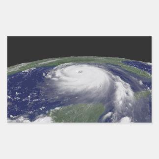 Hurricane Katrina Satellite image Rectangular Sticker
