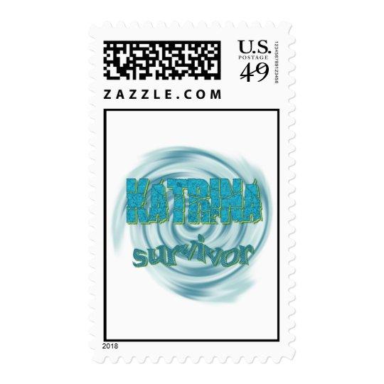 Hurricane Katrina Survivor Ocean Swirls Postage