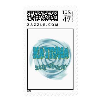 Hurricane Katrina Survivor Ocean Swirls Postage Stamp