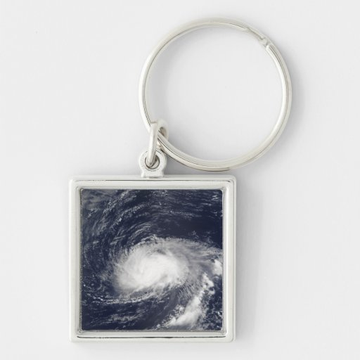 Hurricane Kyle Silver-Colored Square Keychain
