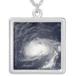 Hurricane Kyle Square Pendant Necklace