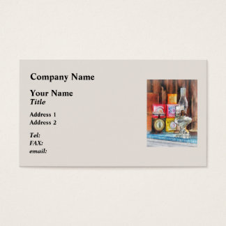 Hurricane Lamp and Scale Business Card