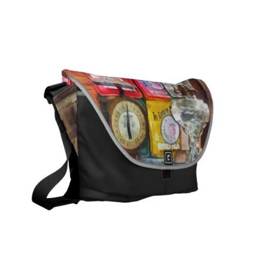 Hurricane Lamp and Scale Commuter Bags