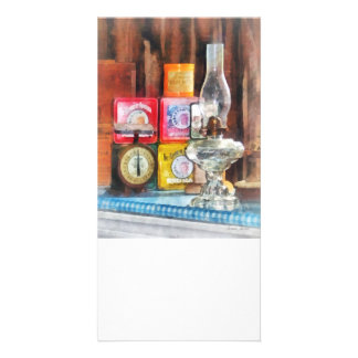 Hurricane Lamp and Scale Photo Card