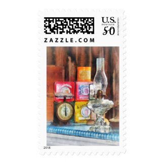 Hurricane Lamp and Scale Postage