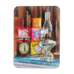 Hurricane Lamp and Scale Rectangle Magnets