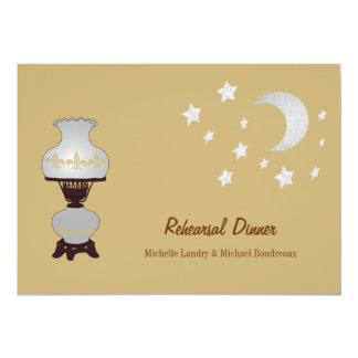 Hurricane Lamp Fleur de Lis Crescent Moon Event Card