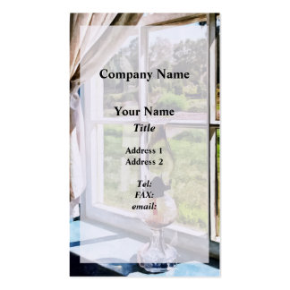 Hurricane Lamp in a Sunny Window Double-Sided Standard Business Cards (Pack Of 100)