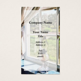 Hurricane Lamp in a Sunny Window Business Card