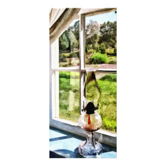 Hurricane Lamp in a Sunny Window Rack Card