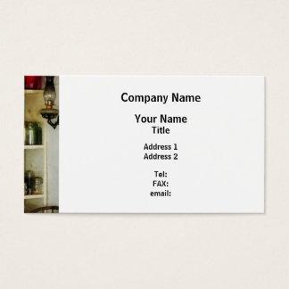 Hurricane Lamp in Pantry Business Card