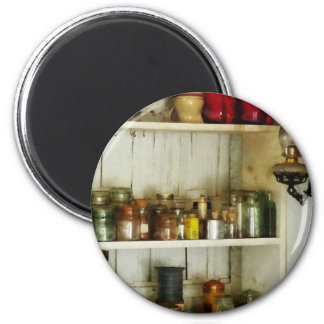 Hurricane Lamp in Pantry 2 Inch Round Magnet