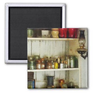 Hurricane Lamp in Pantry 2 Inch Square Magnet