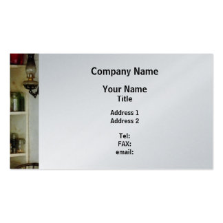 Hurricane Lamp in Pantry - Platinum Finish Double-Sided Standard Business Cards (Pack Of 100)