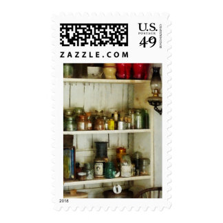 Hurricane Lamp in Pantry Postage
