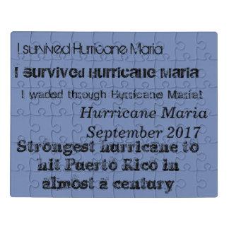 Hurricane maria montage text jigsaw puzzle