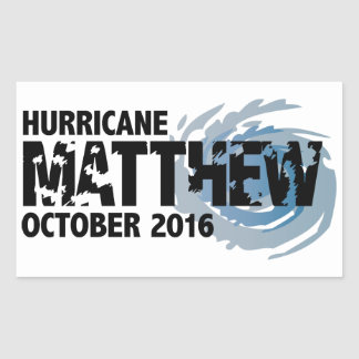 Hurricane Matthew October 2016 Rectangular Sticker