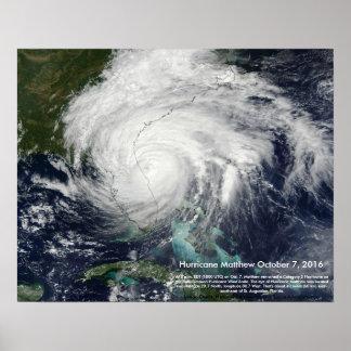 Hurricane Matthew Satellite Image by St. Augustine Poster