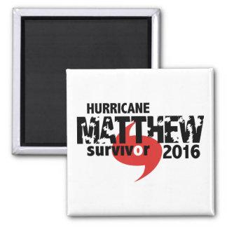 Hurricane Matthew Survivor October 2016 2 Inch Square Magnet