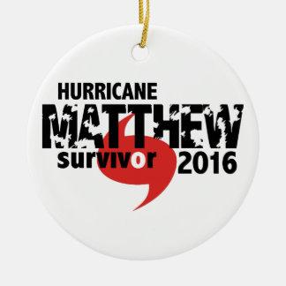 Hurricane Matthew Survivor October 2016 Ceramic Ornament