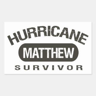 Hurricane Matthew Survivor October 2016 Rectangular Sticker