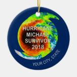 HURRICANE MICHAEL SURVIVOR | City and State Ceramic Ornament