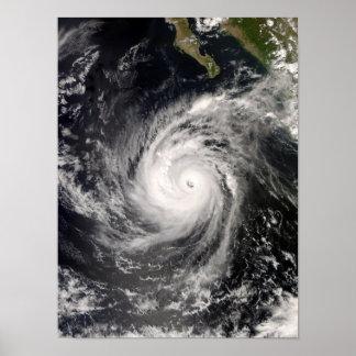 Hurricane Norbert off Mexico Poster