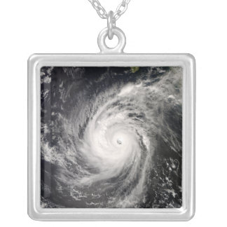 Hurricane Norbert off Mexico Silver Plated Necklace