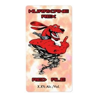 Hurricane Rex Red Ale Label