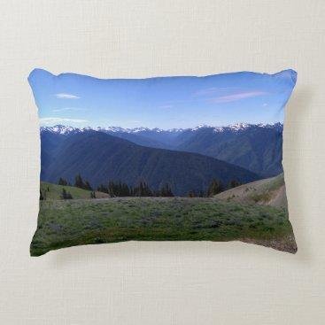 Beach Themed Hurricane Ridge Image pillow