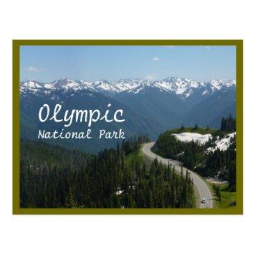 Christmas Themed Hurricane Ridge (Olympic N.P.) with text Postcard