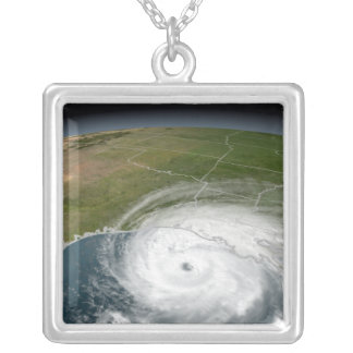 Hurricane Rita 2 Silver Plated Necklace