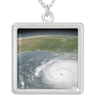 Hurricane Rita Silver Plated Necklace