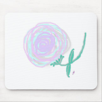 Hurricane Rose Smudged Pastel Print Mouse Pad