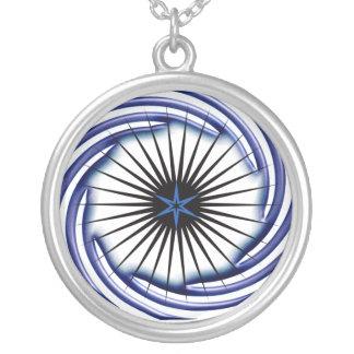hurricane round pendant necklace