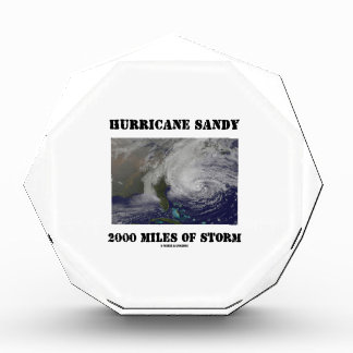 Hurricane Sandy 2000 Miles Of Storm Acrylic Award