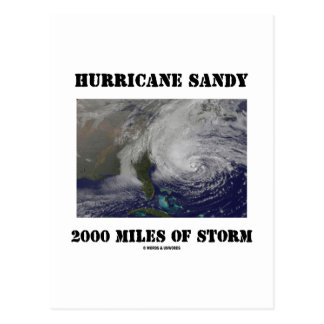 Hurricane Sandy 2000 Miles Of Storm Postcard