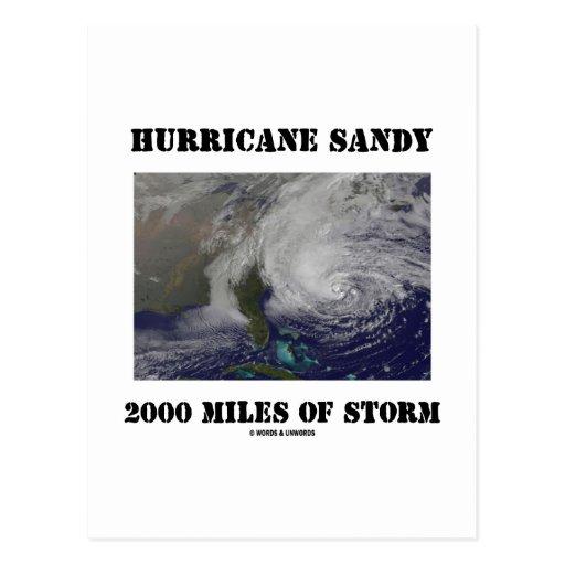 Hurricane Sandy 2000 Miles Of Storm Postcards