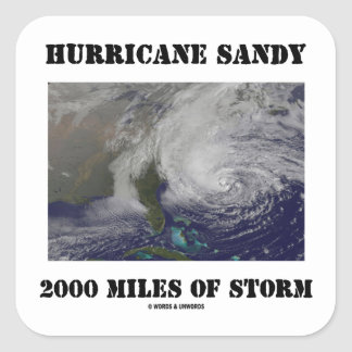 Hurricane Sandy 2000 Miles Of Storm Square Sticker