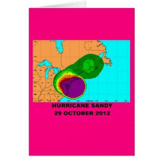 Hurricane Sandy 29 October 2012 Card