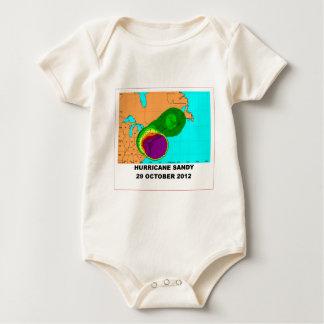 Hurricane Sandy 29 October 2012 Map Baby Bodysuit