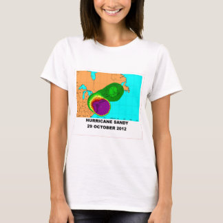 Hurricane Sandy 29 October 2012 Map T-Shirt