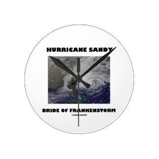 Hurricane Sandy Bride Of Frankenstorm Round Wall Clock