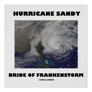 Hurricane Sandy Bride Of Frankenstorm Posters