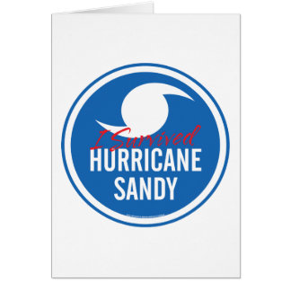 Hurricane Sandy Card