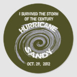 Hurricane Sandy Classic Round Sticker