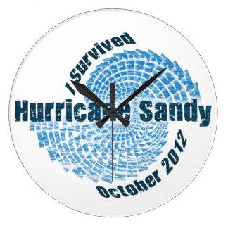 Hurricane Sandy Round Wallclock